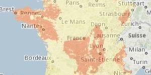 Carte france radon